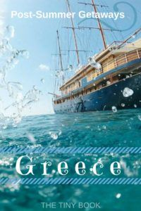 Getaways in Greece For those unaware, post-summer is a great time to explore Greece. September and October are really the best months to visit.