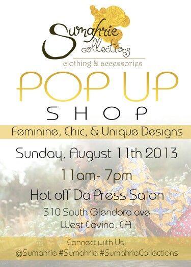 Pop up shop..