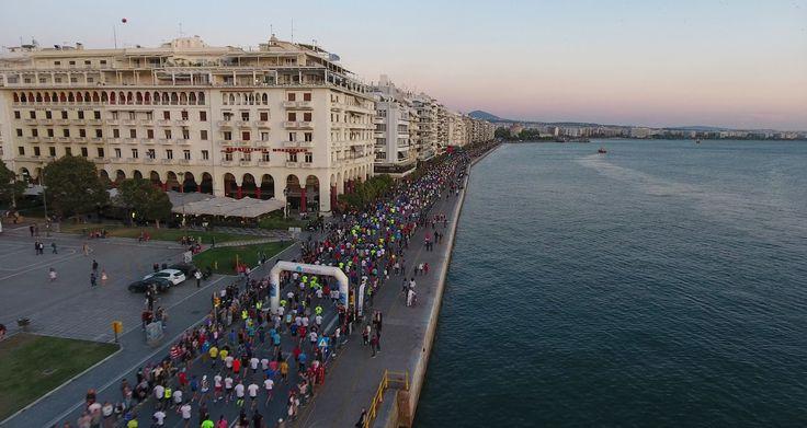 Thessaloniki,Night half marathon.Greece.