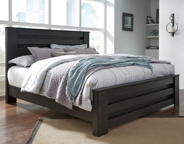 King Poster Bed in Charcoal Finish by Signature Design by Ashley | Wolf and Gardiner Wolf Furniture