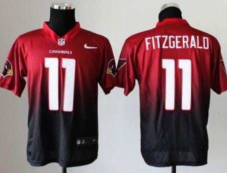 Larry Fitzgerald Red Elite Nike Arizona Cardinals 11 Larry Fitzgerald  RedBlack Fadeaway Elite Jersey ... 8cc5c9893