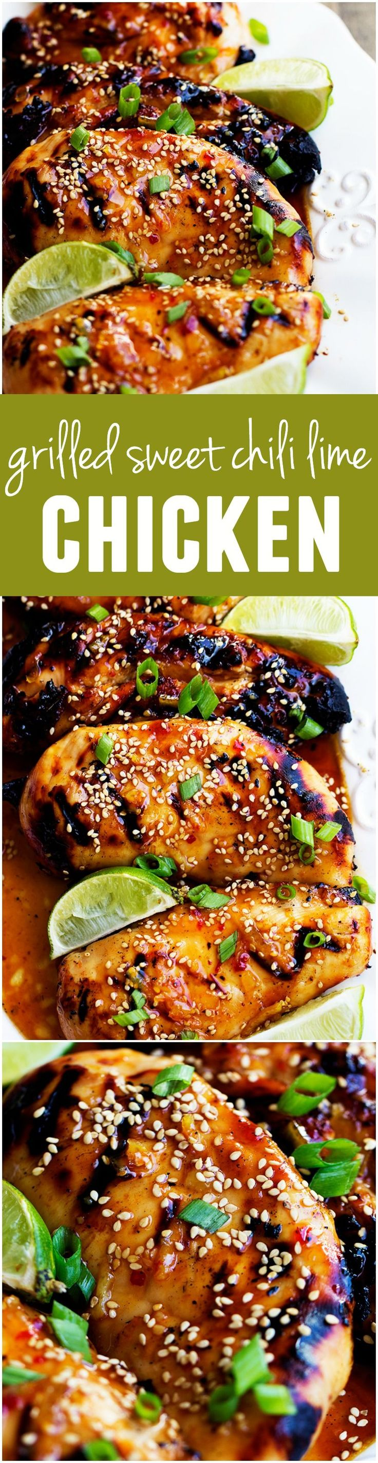 Grilled Sweet Chili Lime Chicken - Tender and juicy perfection and the flavor is out of this world!