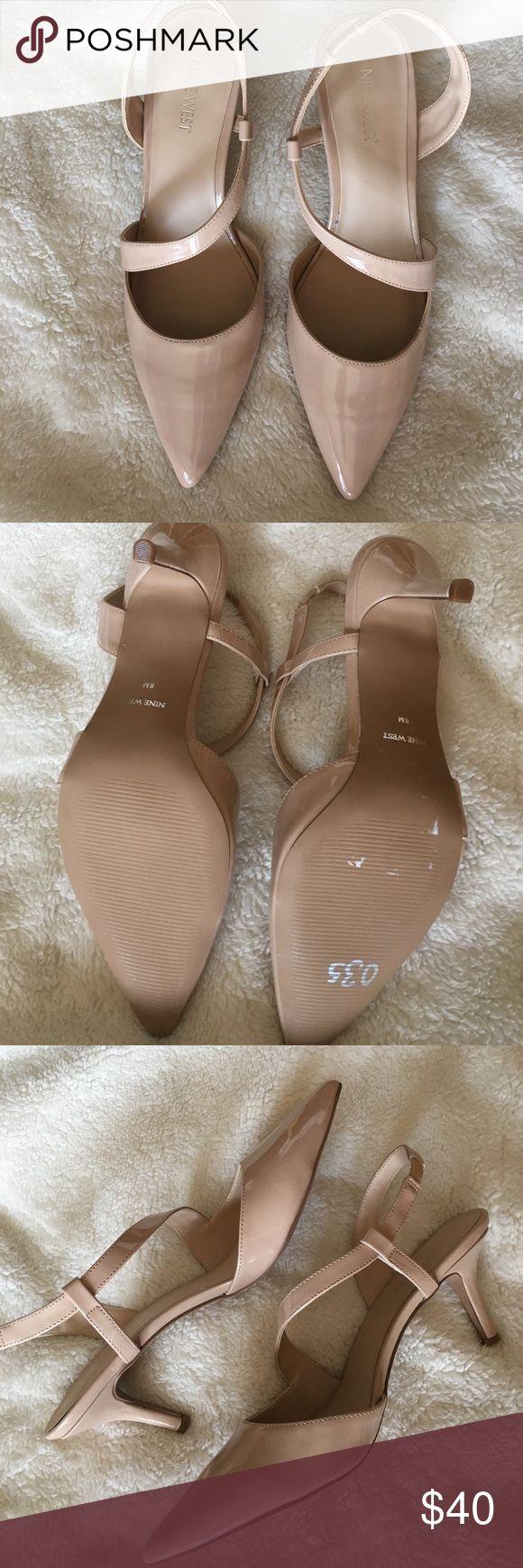 NINE WEST 8 NUDE SLINGBACK PUMPS NINE WEST brand new, never worn slingback pumps, size 8. Nude patent leather. Nine West Shoes Heels