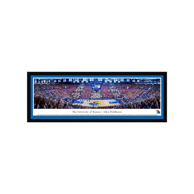 Kansas Jayhawks Basketball Arena Framed Wall Art, Multicolor