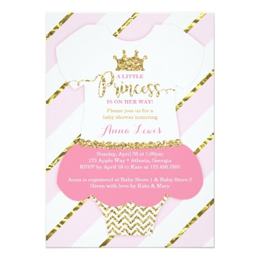 Find This Pin And More On Princess Baby Shower Invitations By Design6085.