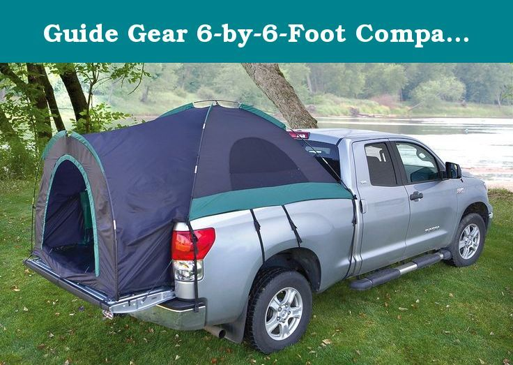 "Guide Gear 6-by-6-Foot Compact Truck Tent. Convenient Guide Gear Truck Tent turns your pickup into an instant mobile home! SAVE BIG! Give a whole new meaning to the term ""truck bed""! Pickups don't come with a tractor-trailer style sleeper unit. Truck Tents from Guide Gear remedy that oversight! Each size deploys in minutes in pickup beds, providing a fast, comfortable shelter. Topnotch construction, excellent ventilation, adaptable options and a compatibility with many popular pickup…"