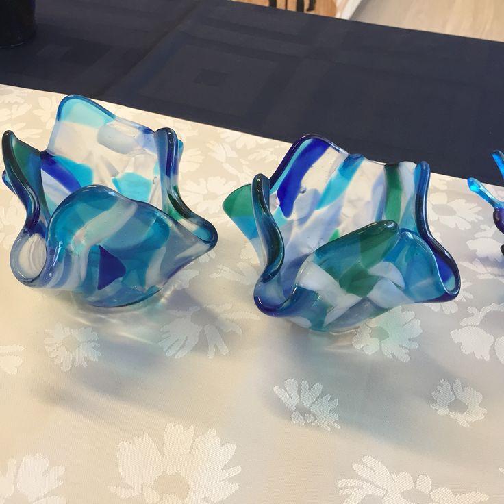 Fused glass - tea lights