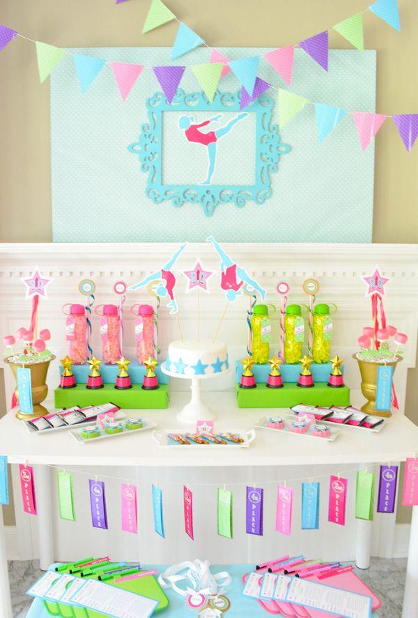 A Glam & Girlie Gymnastics Birthday Party