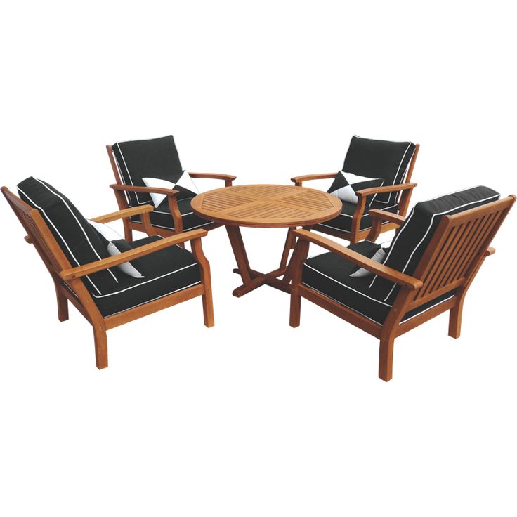 $799 Bunnings 5 Piece Fresco Timber Lounge Setting