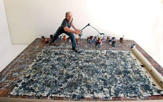 Colpo di frusta! Ecco l' #Arte di Jackson Pollock!