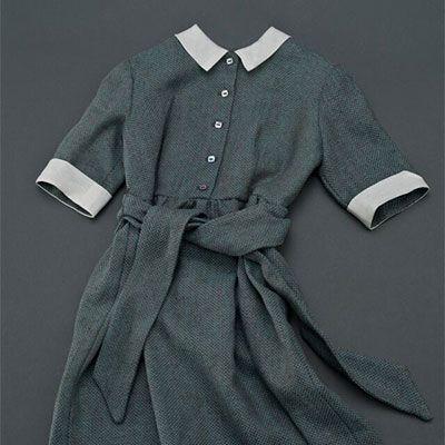 Linen dress of a young girl