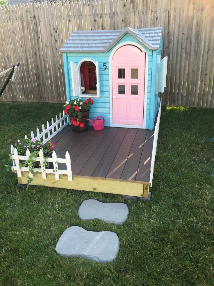 Little tikes playhouse makeover! All you need is a few cans of spray paint and a lot of patience. Did this fun project over a weekend, well worth it!