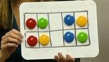 VERKORT TELLEN Mooie les om verkort tellen te oefenen: een magneetbordje met de…
