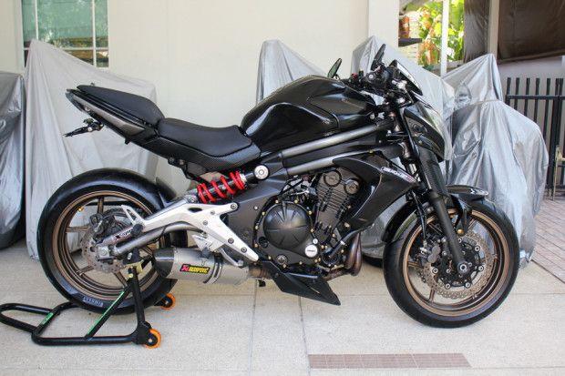 Kawasaki ER-6n 650 ปี2012 ราคาถูก สภาพสวยพร้อมของแต่ง จัดไฟแนนซ์ได้