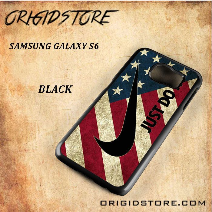 United State Flag Just Do It Black White Snap On 3D For Samsung Galaxy S6 Case