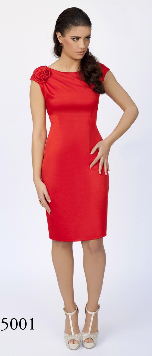 0eb368e6f Vestido de fiesta recto rojo colección Moncho Heredia Vestidos Vintage  Fiesta