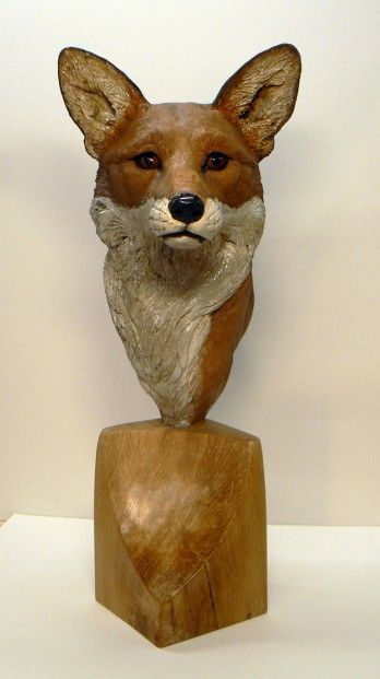 Lesley McKenzie_Fox Portrait_Raku Ceramic_60x25cm | Scottish Contemporary Art