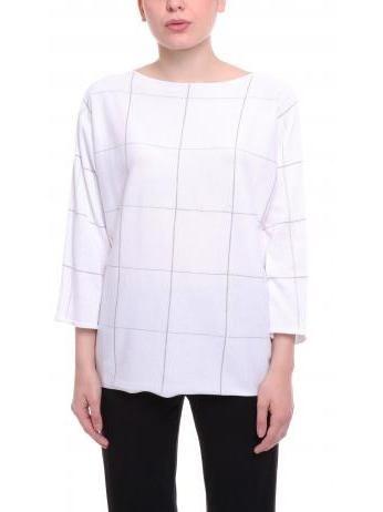 Fabiana Filippi - Monili windowpane check boxy sweater