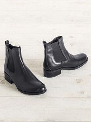Damen-Chelsea-Boots aus Leder - schwarz