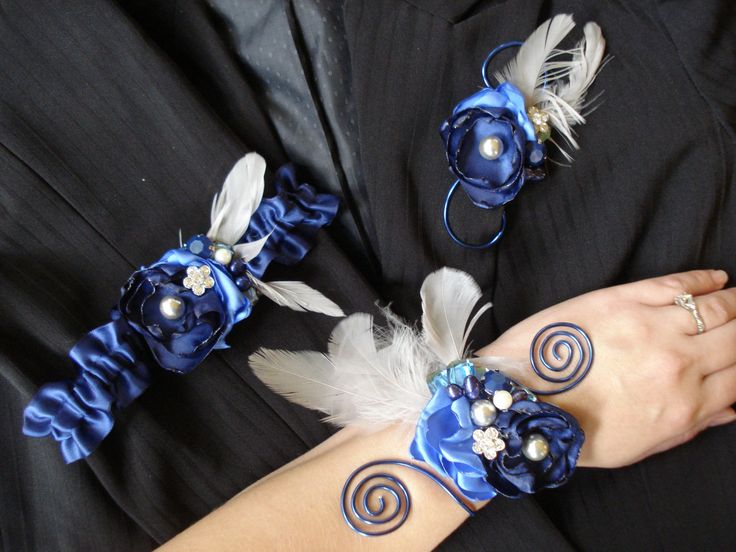 Homecoming corsages, Prom corsages, Prom boutonnieres, Prom Set, Homecoming Set, Prom, Alternative Corsage, Navy Blue homecoming or prom by Axentz on Etsy