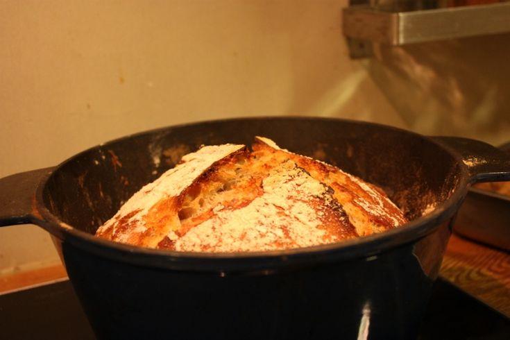 No knead brød med surdeig