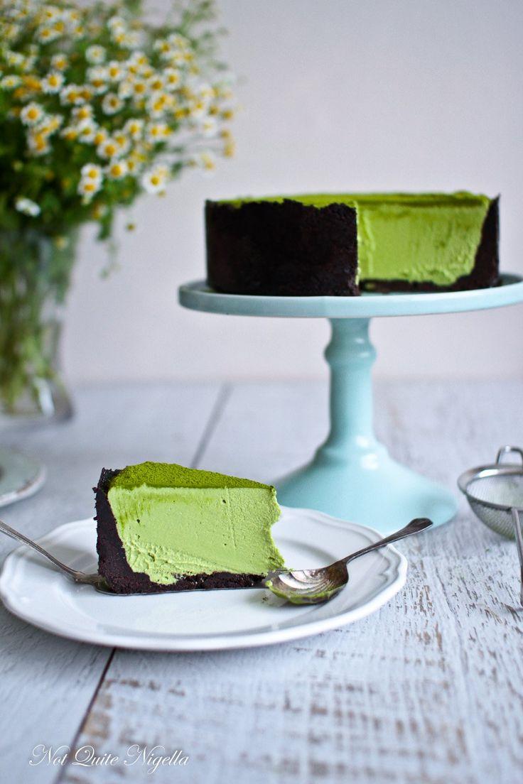 Matcha White Chocolate Lime Cheesecake @ Not Quite Nigella