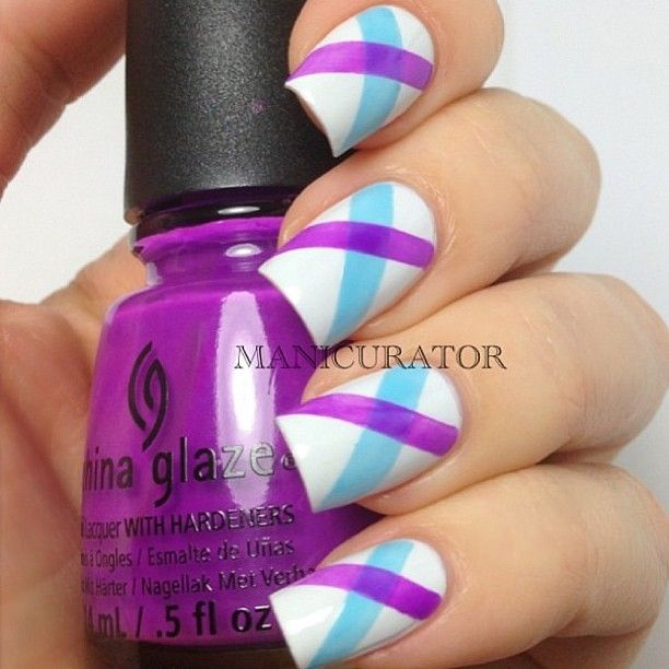 Been seeing a lot of this color combo. Like it! #TakeTwoVisor #nails #nailart