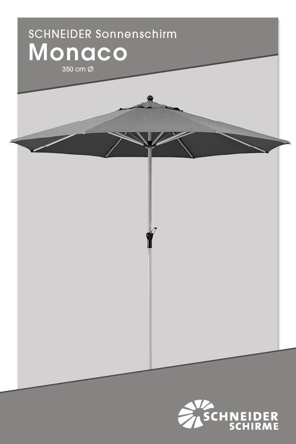 Sonnenschirm Monaco 350 Cm O Bespannung 100 Polyester Ca 280 G M2 Verrottungsfest Wasserabstossend Impragniert