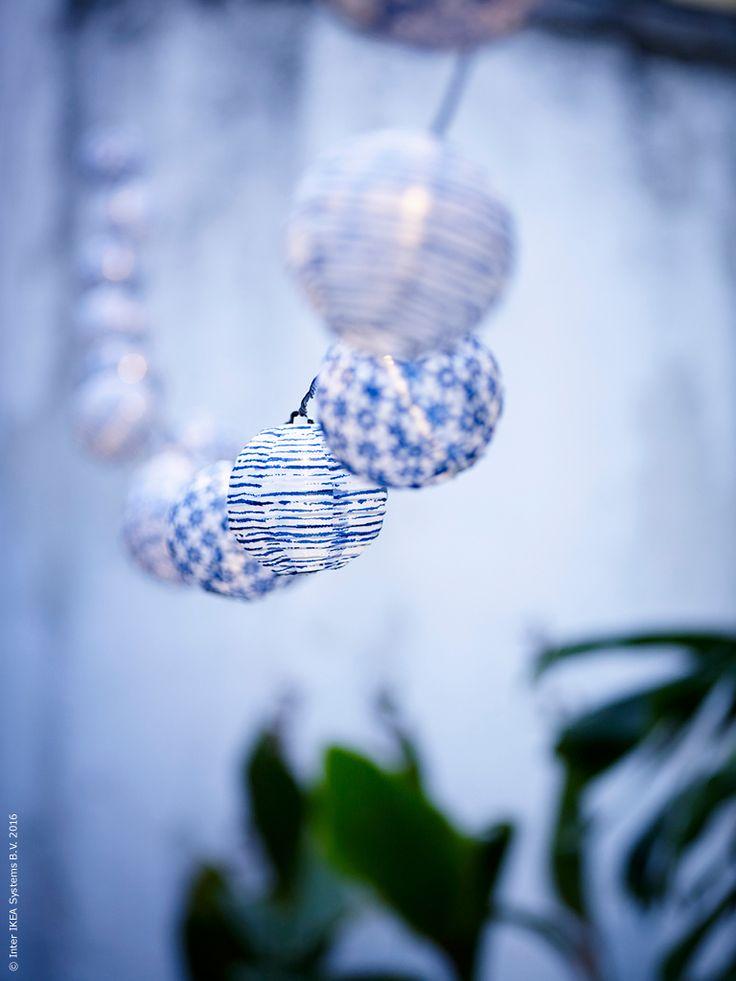 Solvinden dekoration f r ljusslinga utomhus pinterest for Ikea dekoration
