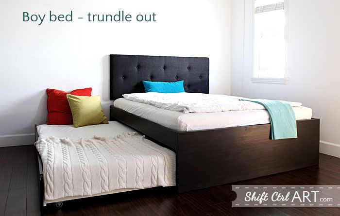 How to: build a queen bed with twin trundle - IKEA hack | Queen Beds ...