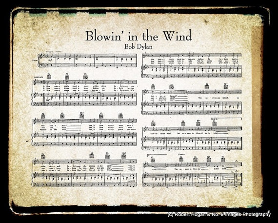 literary devices in blowin in the wind