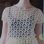 Summer Openwork Crochet Top
