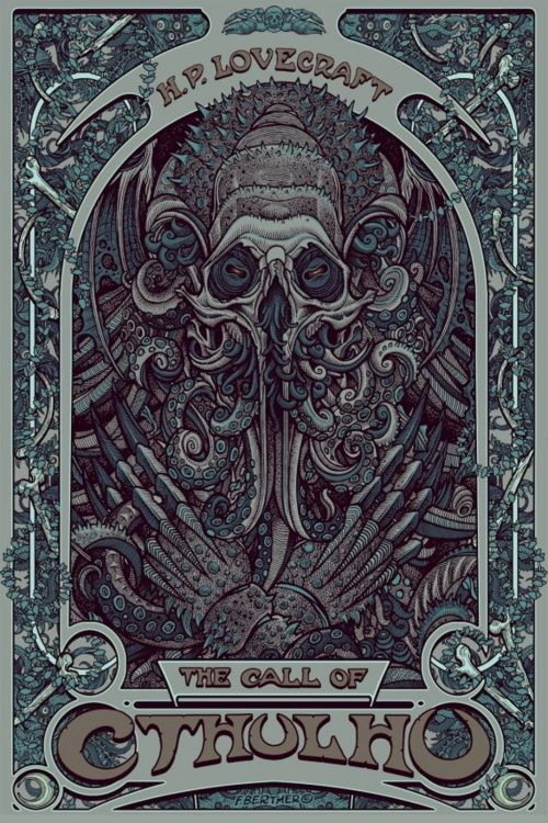 """""""In his house at R'lyeh, dead Cthulu waits dreaming""""   ― H.P. Lovecraft, The Call of Cthulhu and Other Weird Stories"""