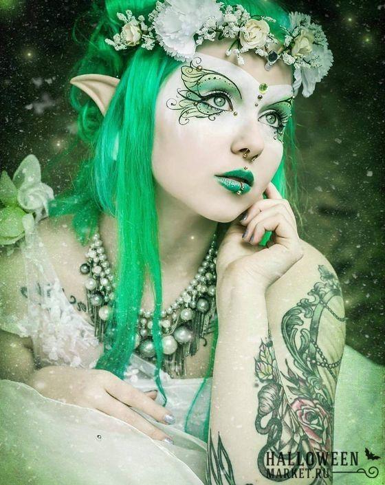 Образ феи на хэллоуин: прическа и макияж феи (фото)