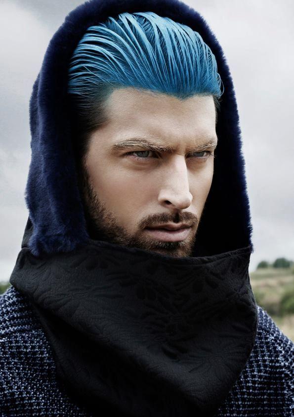 #fashion #hooded #scarf #blue #jacquard #model!!!  @林 高鸿.toi #free #shipping 41,50€ http://cachetoi-bcn.com/en/home/12-blue-jaquard.html#