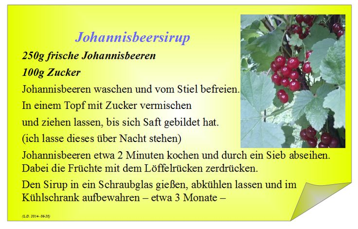 Johannisbeersirup