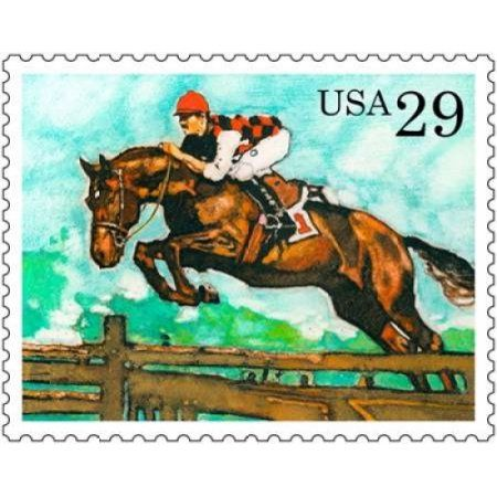 Steeple Chase Canvas Art - US Postal Service (24 x 30)