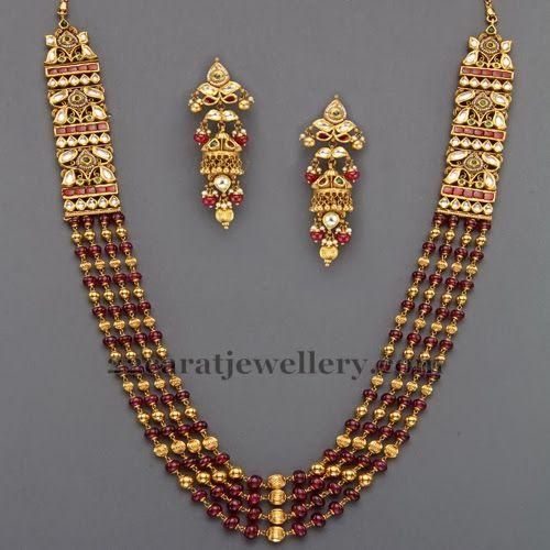 Jewellery Designs: Beads Contemporary Set by Mangatrai