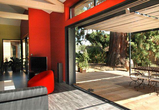 Peste 1000 de idei despre baie coulissante pe pinterest baie coulissante alu porte de garage for Porte exterieure vitree