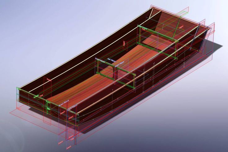 Oz Goose simple sailing dinghy hull construction drawing model in CAD - opengoose.com