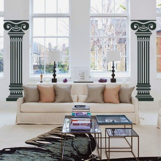 Виниловый стикер Glozis Columns 150х100 см (Е-048) - купить товар для дома и интерьера | Интернет-магазин Yakaboo.ua