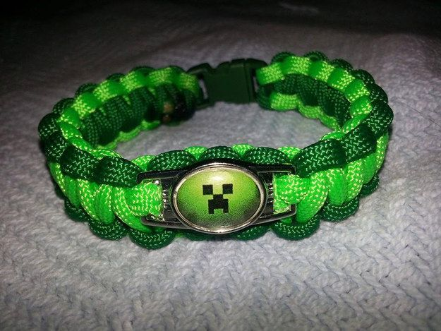 Minecraft Paracord Charm Bracelets | Community Post: 15 Incredibly Unique Minecraft Toys That'll Take Your Geekiness To New Levels