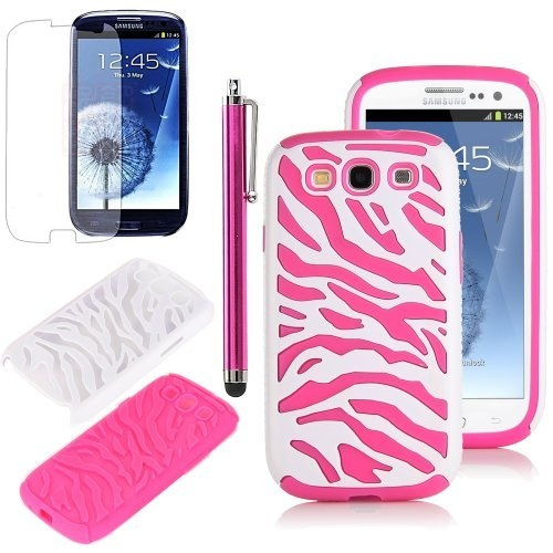 Pandamimi ULAK(TM) Pink White Zebra Combo Hard Soft High Impact Samaung Galaxy s3 i9300 Armor Case Skin Gel with free screen protector + stylus by ULAK. $5.99. ULAK(TM) is US brand producing a full line of accessories for all Apple products, Samsung phones and tablets?Amazon Kindle and Google tablets accessories. We are dedicated to creating products that provide our Amazon customers satisfaction beyond expectations. Whatever profession, passion, or interests they pursue: Ou...