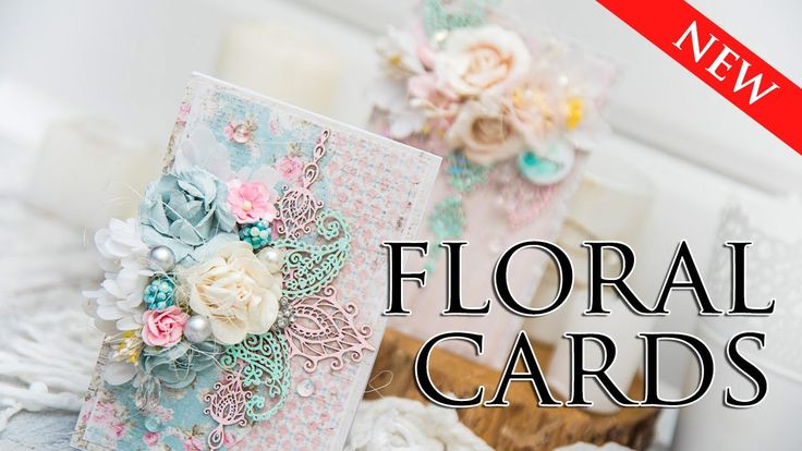 ♥FLORAL CARD♥ CARDMAKING TUTORIAL. How to make a Floral Card. Chipboard Scrapinec, paper Maja Design