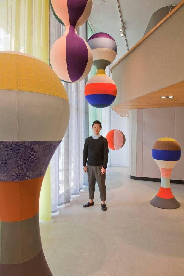 """Den japanske mode- og tekstildesigner Akira Minagawa står bag """"The Akira Minagawa Collection"""" for Kvadrat, som lægger sig i slipstrømmen af tendensen til at satse på masser af farver, mønstre og striber."""