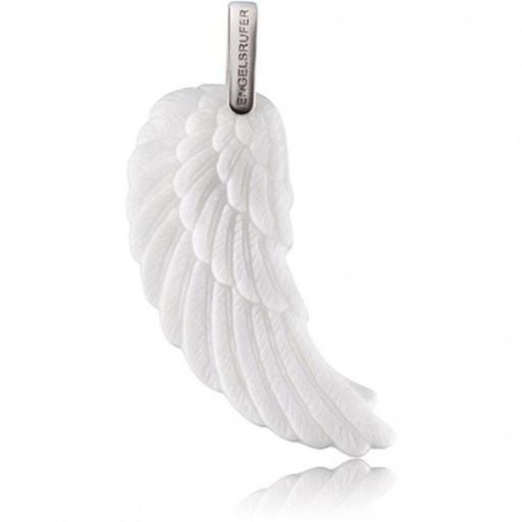 Silver Ceramic Wing Pendant - ENGELSRUFER - JEWELLERY