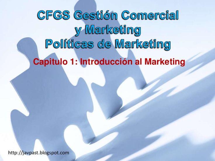 Capitulo 1 de la asignatura Políticas de Marketing del Ciclo Formativo de Grado Superior de Gestión Comercial y Marketing.