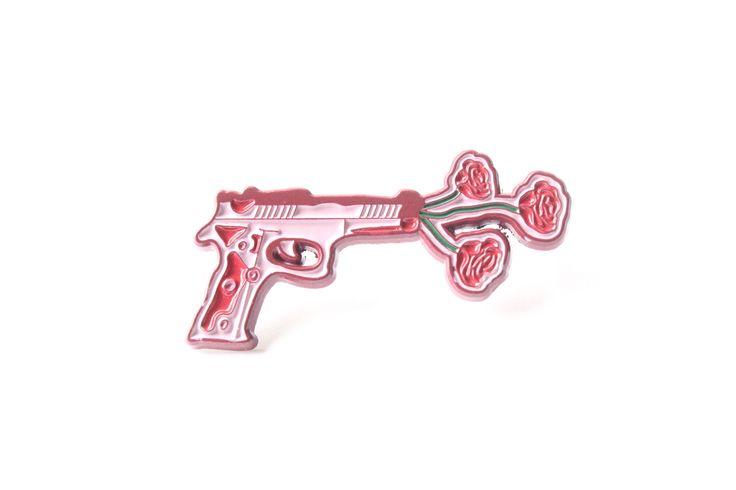 Floral Gun Pin