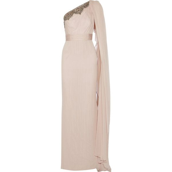 Notte by Marchesa Embellished washed-silk gown and other apparel, accessories and trends. Browse and shop related looks.
