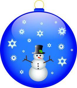 Christmas Ornament Clip Art   Free Ornament Clip Art Image - Snowman on a Christmas Ornament with ...